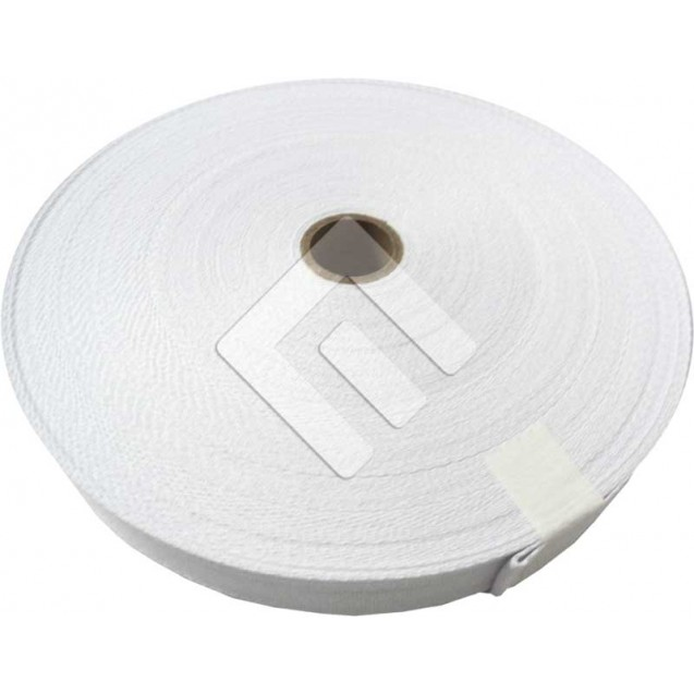 Cadarço Sarjado Editex 100 % Algodão Branco  - 15 mm Rolo c/ 50 metros