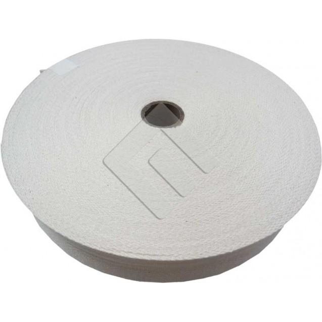 Cadarço Sarjado Editex 100 % Algodão crú  - 30 mm  Rolo c/ 50 metros