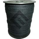 Cadarço Sarjado Editex 99 % Algodão e 1 % Poliéster Preto  -  04 mm Carretel c/ 100 metros