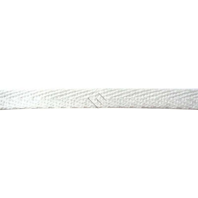 Cadarço Sarjado Editex 100 % Algodão Branco  -  05 mm Carretel c/ 100 metros