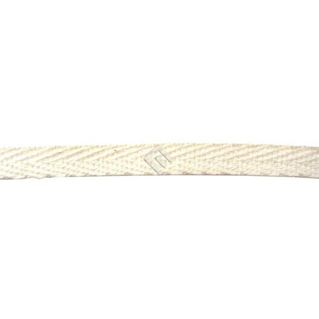 Cadarço Sarjado Editex 100 % Algodão Crú  -  05 mm Carretel c/ 100 metros