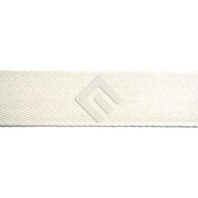 Cadarço Sarjado Editex 100 % Algodão crú  - 15 mm Rolo c/ 50 metros