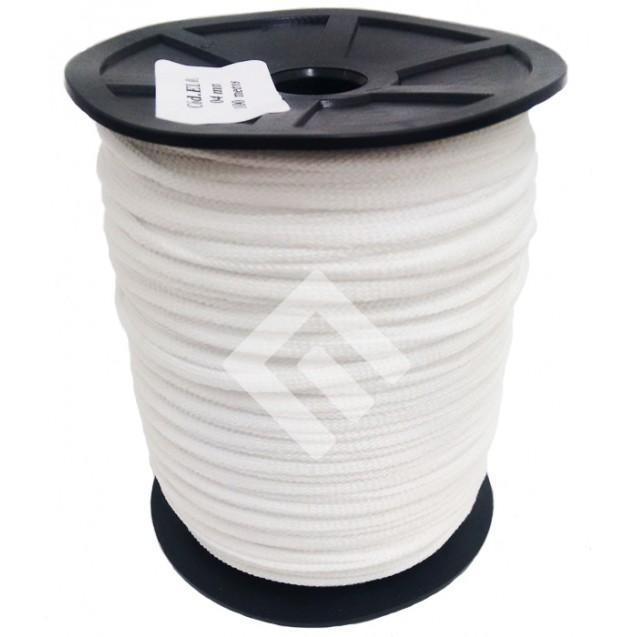 Cordão Roliço Elástico - 88 % Poliéster e 12 % Elastano - 4 mm Carretel c/100 mts